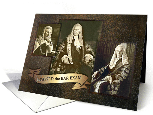 I Passed the Bar Exam, Be Impressed, Vintage Photos of Barristers card