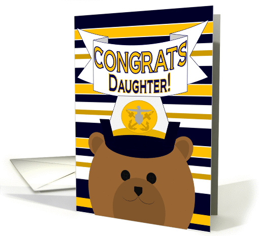 Congrats Daughter! Naval Officer - Any Award/Recognition card