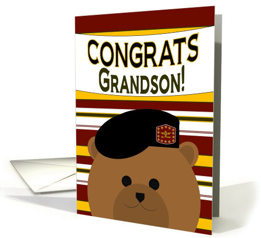 Congrats, Grandson! Army Officer - Any Award/Recognition card