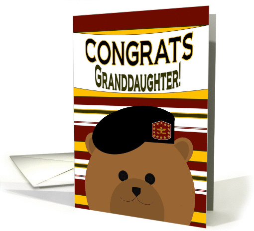 Granddaughter - Congrats! 2nd Lieutenant Army Commissioning card