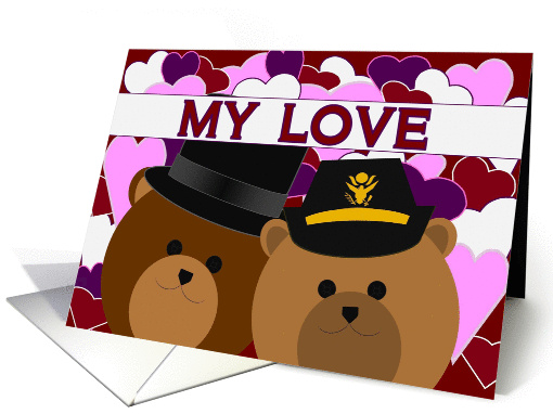 Happy Anniversary - To Husband - From Army Officer Wife card (1145878)