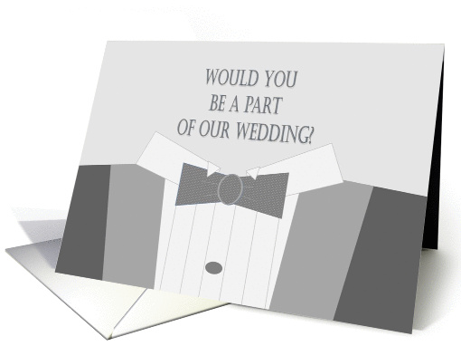 Would You Be A Part of Our Wedding? Invitation card (873519)