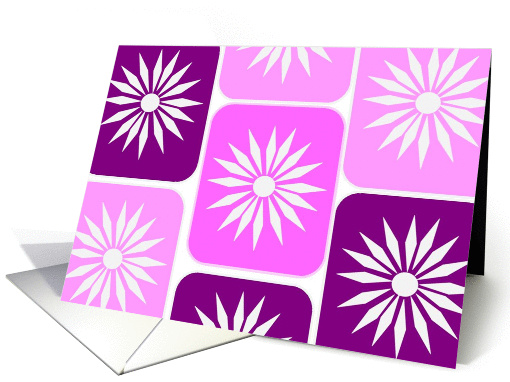 Girl Scout Power Congratulations - Cheerful Geometric Flower card