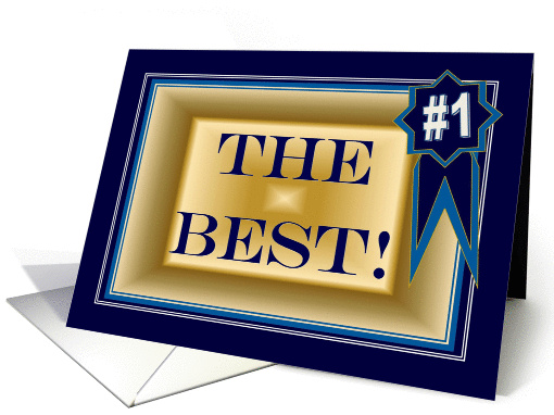 The Best - Congratulations on Award card (917849)