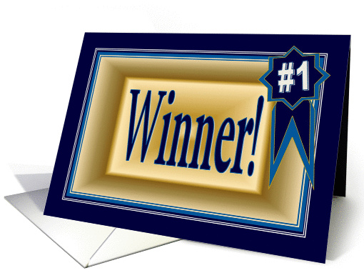 Congratulate a Winner on an Award card (918618)