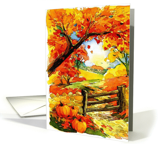 Thanksgivng Leaves card (890412)