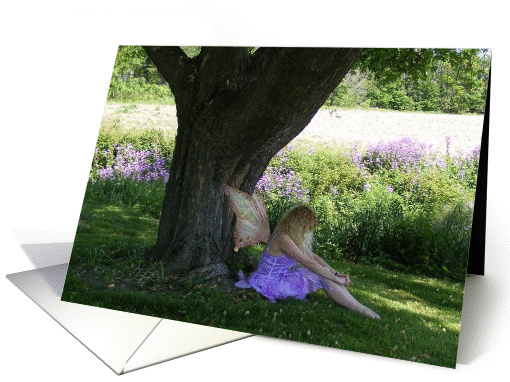 Summer Solstice Blessing Faerie under a Tree card (869048)
