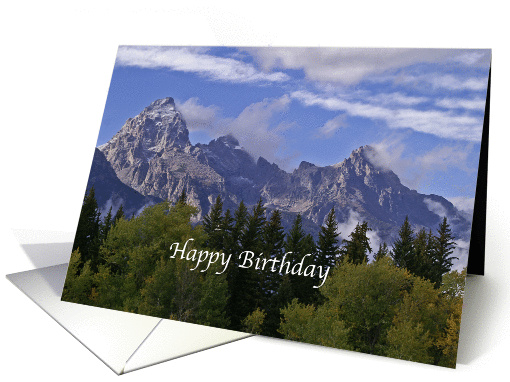 BIrthday For A Male Friend Grand Tetons card (789762)
