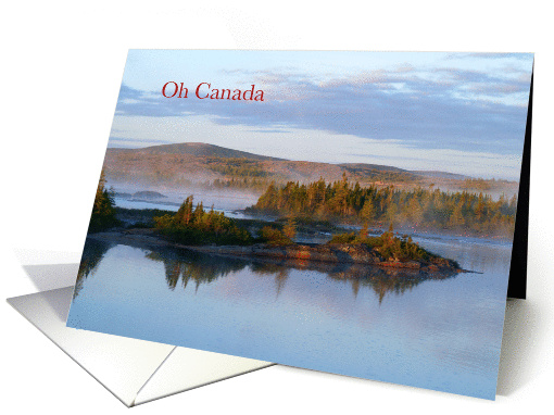 Oh Canada Labrador Morning On Mary's River Greeting Crad card (816764)