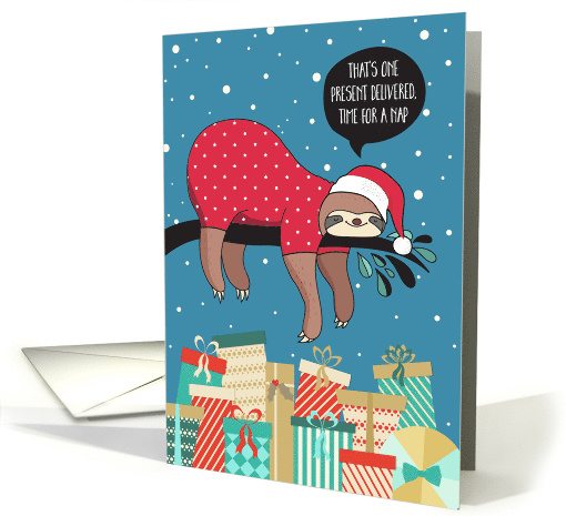 Funny Christmas Card - The Sloth Santa card (1452918)