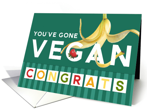 Vegan Congratulations - Fruit and Fun card (1532208)