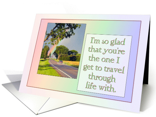 Glad to be carpooling on the highway of life with you... card (831914)