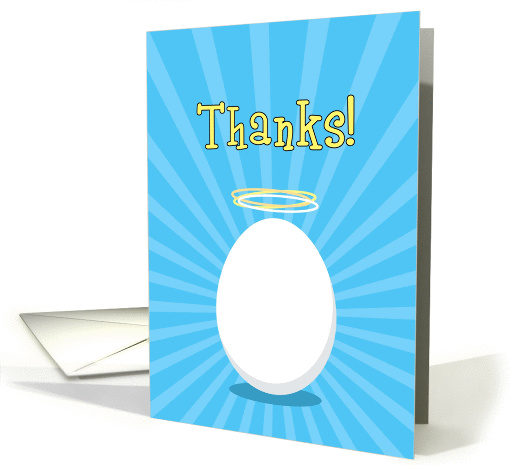 Thanks, You're a Good Egg with Halo, Humorous card (896703)
