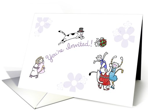 Fluffy the cat's wedding - Invitation to wedding card (830099)