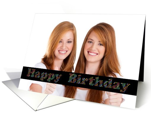 Happy Birthday Colorful Circles Photo card (878958)