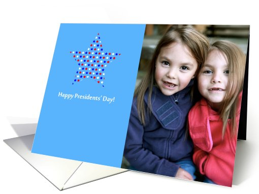 Happy Presidents' Day Red, White and Blue Stars Photo card (903202)