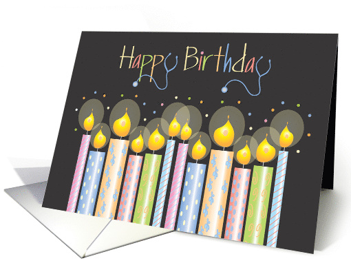 Hand Lettered Birthday for Nurse, Patterned Candles &... (1069245)