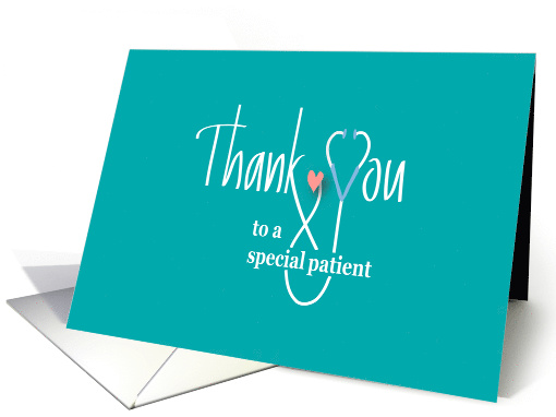 Hand Lettered Thank you from Doctor or Nurse, Stethoscope & Heart card