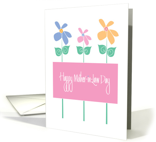 Mother-in-Law Day with Tall Colorful Flowers card (1176126)