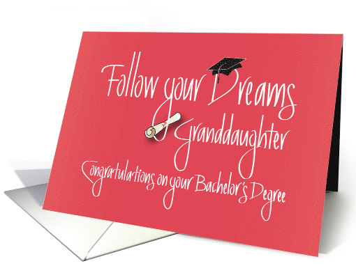 Bachelor's Graduation for Granddaughter with Diploma card (1223170)