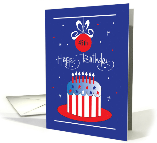 Memorial Day Birthday, Wish Big with Stars and Stripes card (1325880)