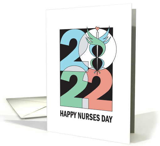 Nurses Day with Heart Stethoscope, Nursing is a Work of Heart card