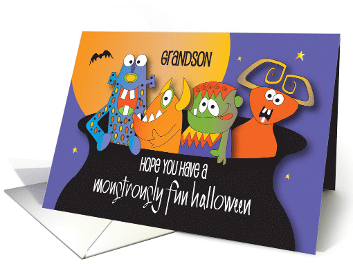 Halloween for Grandson, A Monstrous Gathering of Monsters card