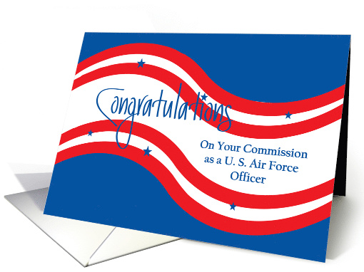 Military Commissioning for U.S. Air Force, Stars and Stripes card
