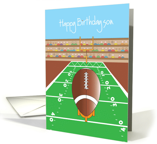 Happy Birthday for Son, Football, Football Field and Hand... (960649)