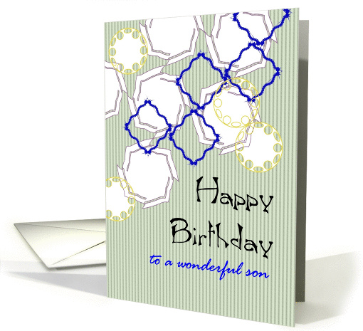 Birthday for son, geometric shapes card (1304374)