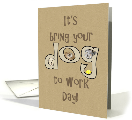 Bring your dog to work day, doggy illustrations card (1349418)