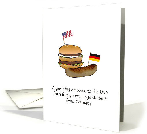 Welcome foreign exchange student Germany to USA burger... (1490834)