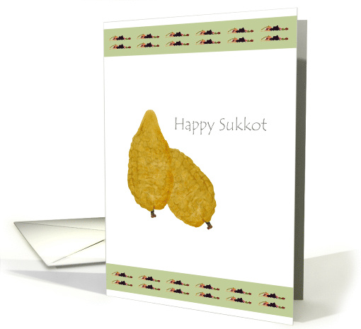 The Balady citron and the Seven species, Happy Sukkot card (921456)