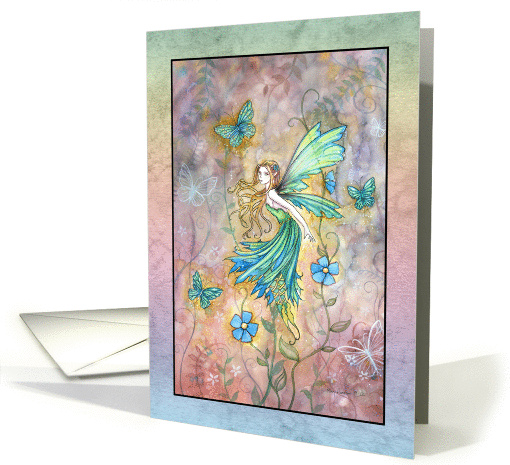 Encouragement - Follow Your Dreams - Fairy and Butterflies card
