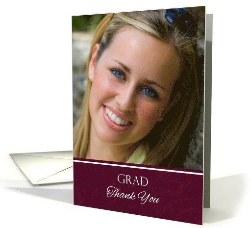 Thank You for the Graduation Gift Custom Photo card (1064971)