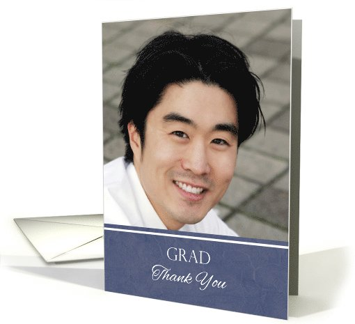 Thank You for the Graduation Gift Custom Photo card (1064999)