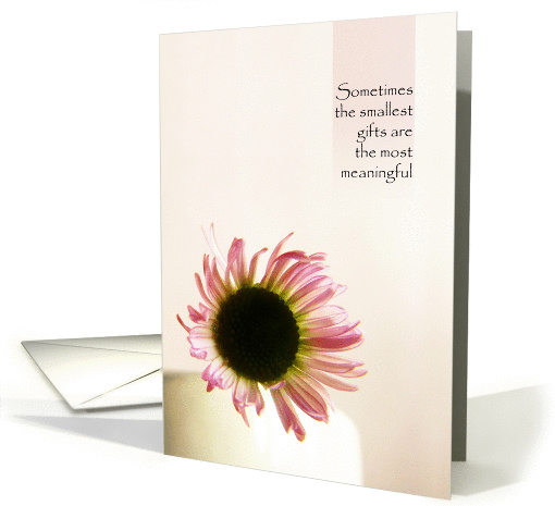 Smallest Gifts - Pink Daisy Thank You card (908661)
