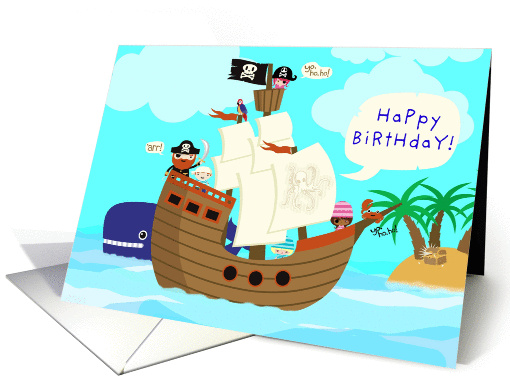 Yo, ho, ho, and a ton of Birthday Fun with the Pirates! card (1087904)