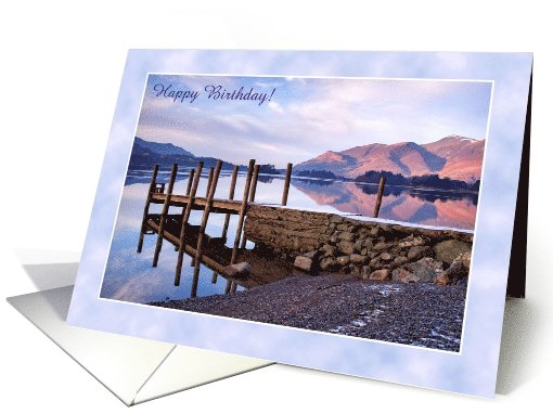 Birthday Lake District of Derwentwater, Custom card (1001413)