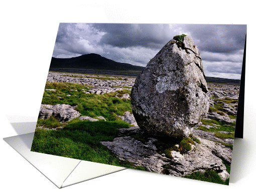 The Yorkshire Dales - Ingleborough from Twisleton Scars - Blank card