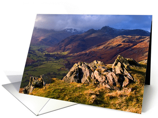 The Lake District, Cumbria - Great Langdale - Blank card (877258)