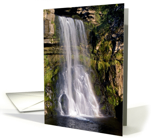 Thornton Force, Ingleton, waterfall, The Yorkshire Dales - Blank card