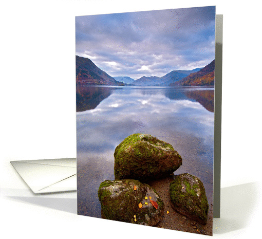 Tranquil Lake scene - The Lake District - Blank card (892270)