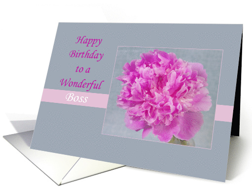 Happy Birthday To My Lady Boss Pink Peony card (1531058)