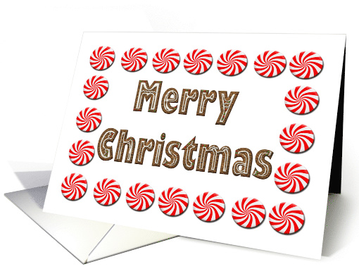 Merry Christmas Gingerbread And Peppermint Candies card (1531772)
