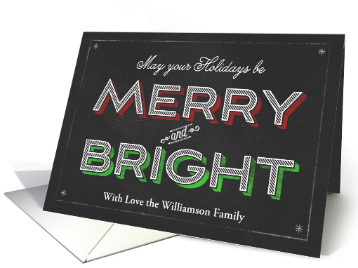 Chalkboard Holidays Be Merry and Bright card (1186804)