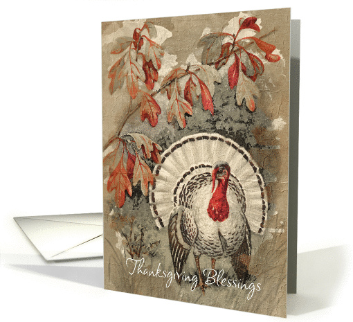 Vintage Thanksgiving Blessings card (951130)