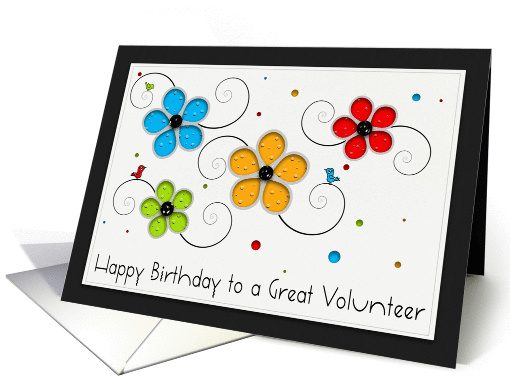 Happy Birthday to a Great Volunteer card (960251)