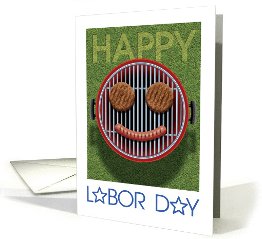 Happy Labor Day Smiley Grill card (1445722)