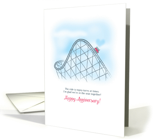 Roller Coaster Ride Anniversary card (1448258)